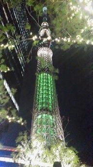 緑スカイツリーとイルミネーション.JPG